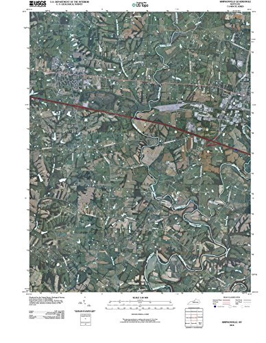 Kentucky Maps | 2010 Simpsonville, KY USGS Historical Topographic Aerial Map |Fine Art Cartography Reproduction - Ky Simpsonville