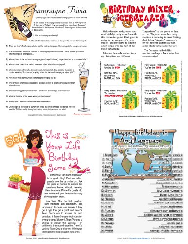 50th Birthday Games (Printable 50th Birthday Party Game Pack)