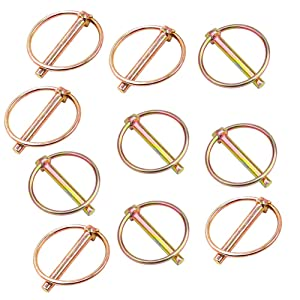 """10 Pieces Pin Size 1/4"""" x 1-3/4"""" Heavy Duty Linch Pin Lock Pin Clips Tractor Lynch Pin Lynch Pin Fastener Assortment Kit for Farm Tractors Trailers Trucks Mowers Trolley Horsebox"""