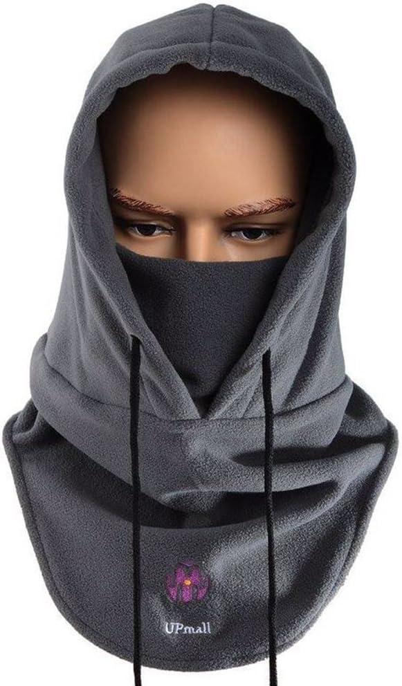 Máscara pasamontañas de polar, de cara completa, para invierno y deportes al aire libre, resistente al viento, con capucha