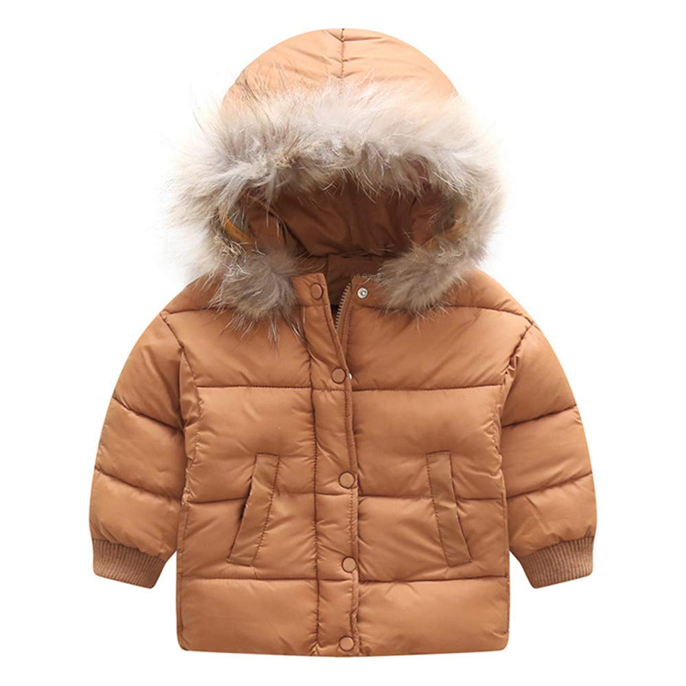 LIKESIDE Kids Baby Winter Solid Coat Cloak Jacket Thick Warm Hooded Outerwear