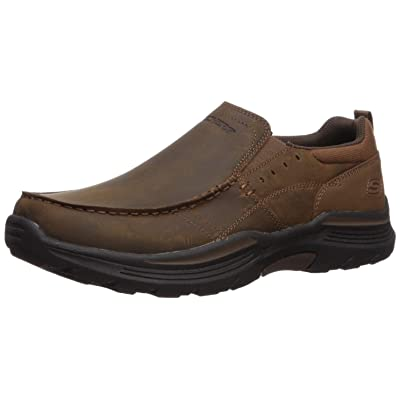 Skechers Men's Expended-Sevenoleather Leather Slip on Moccasin | Loafers & Slip-Ons