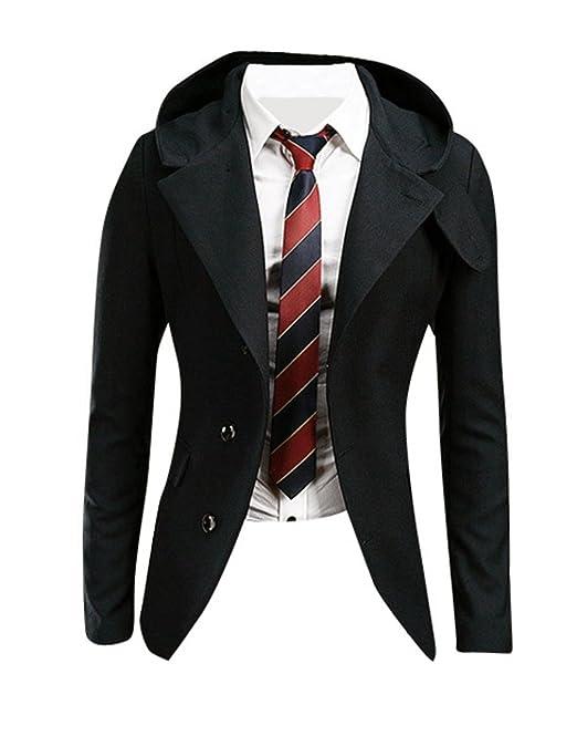 Jeansian Chaquetas para Hombre Moda Mens Fashion Causal Blazer Jacket 9096: Amazon.es: Ropa y accesorios