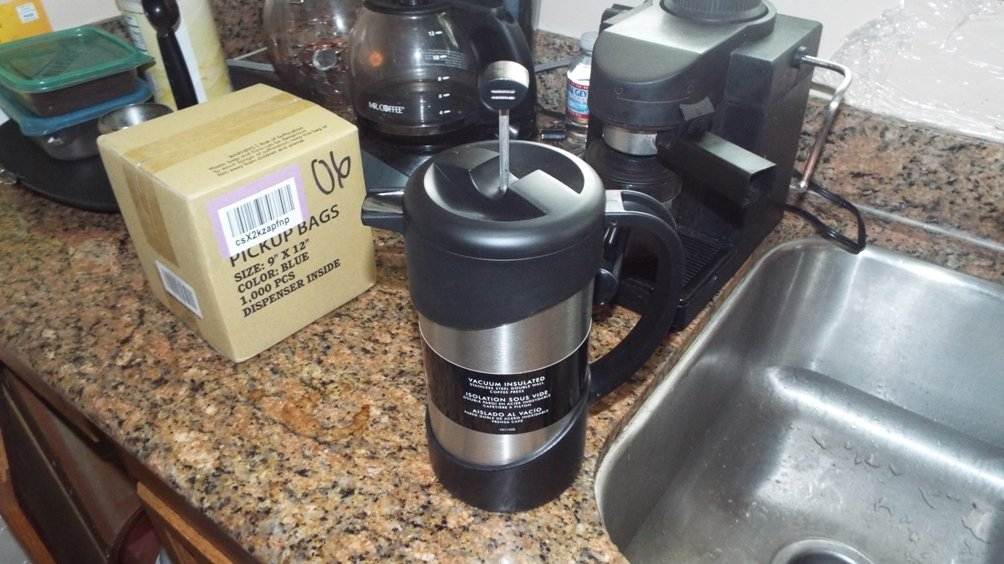 Thermos 34-Ounce Vacuum Insulated Stainless-Steel Gourmet Coffee Press (Discontinued by Manufacturer) by Thermos (Image #2)