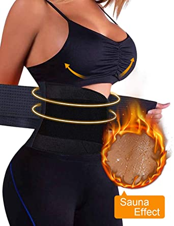 d6f336b5bdb Wonder-beauty Women s Waist Trainer Belt Sport Girdle Shaperwear Waist  Cincher Black S (Fit