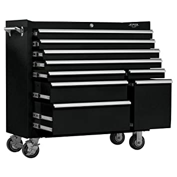 viper tool storage v4109blr 41inch 9drawer 18g steel rolling tool cabinet