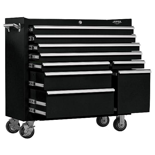 Viper Tool Storage V4109BLR 41-Inch 9-Drawer Cabinet (Black ...