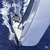 Sailing 2019 12 x 12 Inch Monthly Square Wall Calendar, Boat Ocean Sea Sport
