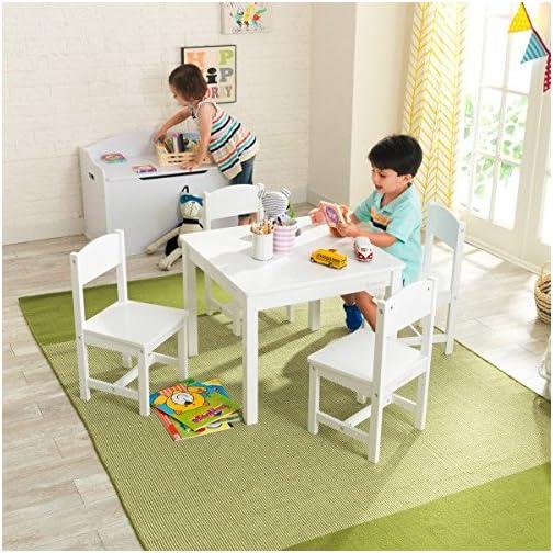KidKraft Farmhouse Table and Chair Set, White