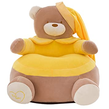 Groovy Amazon Com No Filling Baby Bean Bag Cartoon Crown Bear Baby Dailytribune Chair Design For Home Dailytribuneorg