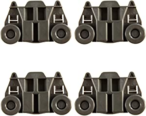 4 Packs W10195417 UPGRADED Dishwasher Wheels Lower Rack For kenmore whirlpool kitchen aid,Dishwasher Wheels Replaces Dish Rack Part Number AP4538395, PS2579553,WPW10195417, AH2579553, EA2579553