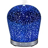 KEDSUM 200ml Aroma Essential Oil Diffuser, Ultrasonic Cool Mist Humidifier with 3D Effects 7 Color Changing Starry Lights 4 Timer Settings for Office Home Bedroom Baby Room Study Yoga Spa