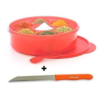 Tupperware para especias se libre fixwell cuchillo: Amazon ...