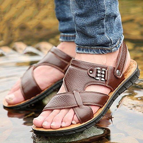 Toes Spiaggia Estive Uomo Vera Infradito Plus Pelle Size Sandali 38 Pantofole Scarpe Open 47 Yellow2 Da Da Nuoto Perizoma fY8HxwS