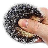 Shaving Brushes, JR Synthetic Nylon Brush Hair Knot with Pure Black Engineered Resin Handle Shaving Brush for Men, Safety Razor, Double Edge Razor, Shaving Razor