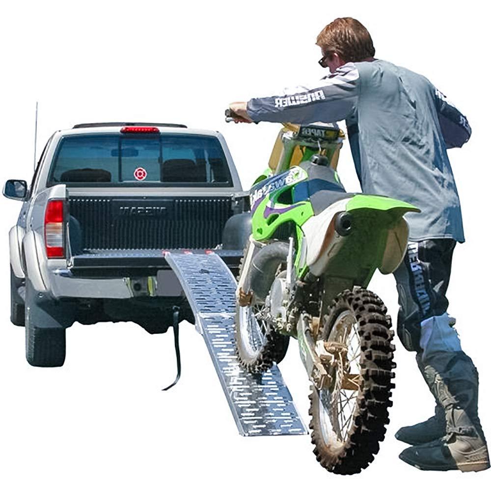 Hengda 2 x Faltbare Auffahrrampe 340kg Aluminium Faltbare Laderampen f/ür Moto und Zugangsrampe