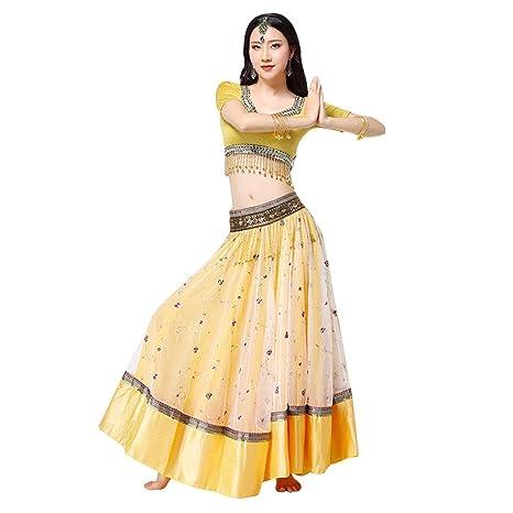 LRR Costumi Ricamati di Bollywood Costumi di Danza Nazionale Abiti Indiani  per Abiti da Seni Grandi d542735be4a