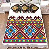 iPrint Bed Skirt Cover 3D Print,Ornament Traditional Cultural Folk Heritage,Best Modern Style Bed Skirt for Men and Women by 94.5''x102.3''