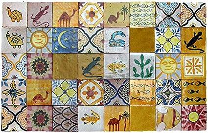 Pannello di piastrelle marocchine 10x10 cm: amazon.it: casa e cucina
