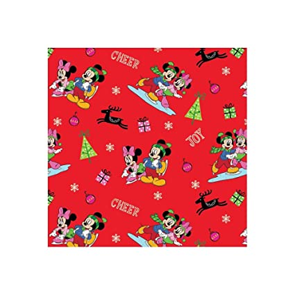 Disney Christmas Fabric By The Yard.Springs Creative Products Disney Christmas Mickey Friends Home For The Holidays Red Fabric By The Yard