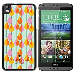 Personalized Design With Kate Spade 31 Black HTC Desire 816 Protective Cover Case
