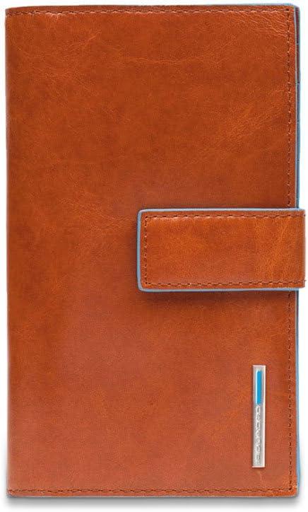 Piquadro Pd1353b2 Portafoglio, Collezione Blu Square, Rosso Arancione