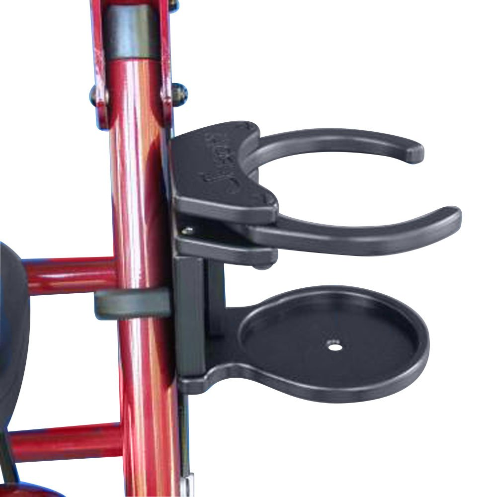 Snapit Wheelchairs Mobility Aids Equipment Adjustable Foldaway Drink Holder for Rolling Walker