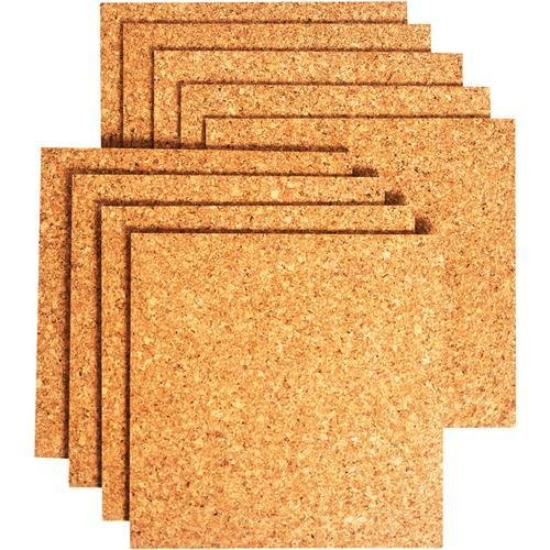 (PACK OF 8)**HIGH QUALITY**Bradforth Cork Tiles, Natural Frameless, (Natural Cork Wall)