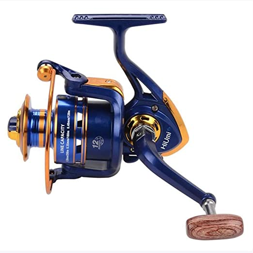 DONG Fishing Reel Spinning Reel 12 Relación de Engranajes + 12 ...