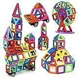 Rrtizan 166 PCS Magnetic Building Blocks Toys Set With Wheels for Kids ...