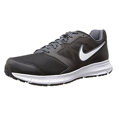 819cfdf29f7 Nike Downshifter 6 Black Dark Magnet Grey White Mens Running Shoes (Size 6
