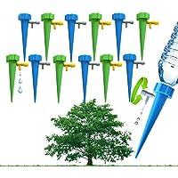 Leoie 12 UNIDS Inicio Planta Automática Herramienta de Riego por Goteo Sistema de Riego de Jardinería Accesorios Decoración