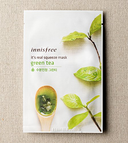 innisfree It's real squeeze mask (15 pack, Green Tea)