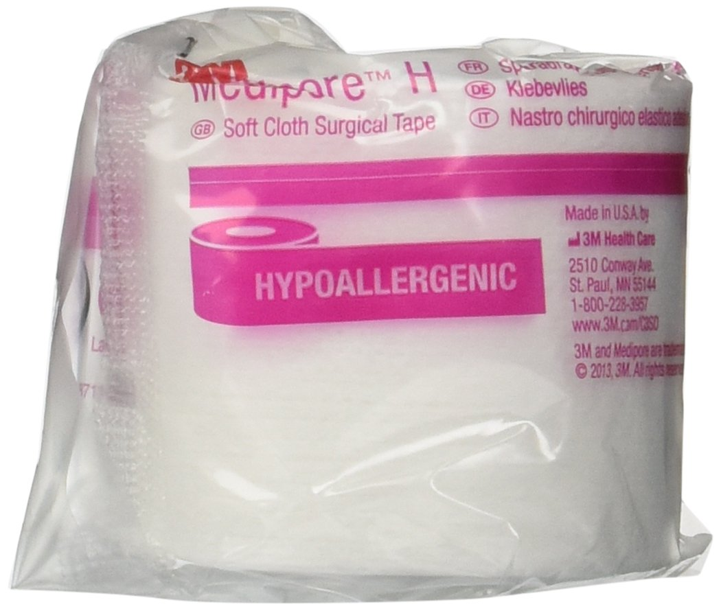 3M Medipore H 2'' x 10 Yard Hypoallergenic Soft Cloth Surgical Tape, Special Pack of 3 Rolls, Item 2862