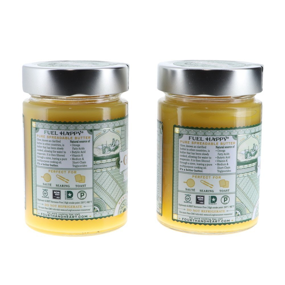 4th & Heart Original Salt Grass-Fed Ghee Butter, 9 Ounce Bundle (2 pack) by Fusion Apparel (Image #3)