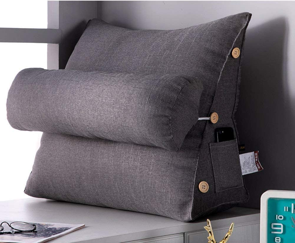 20x18x9inch Throw Back Support Pillows Adjustable Reading Pillow Sofa Bed Office Chair Neck Support Cushion-a 50x45x22cm XGXQBS Wedge Pillow Triangle Pillow