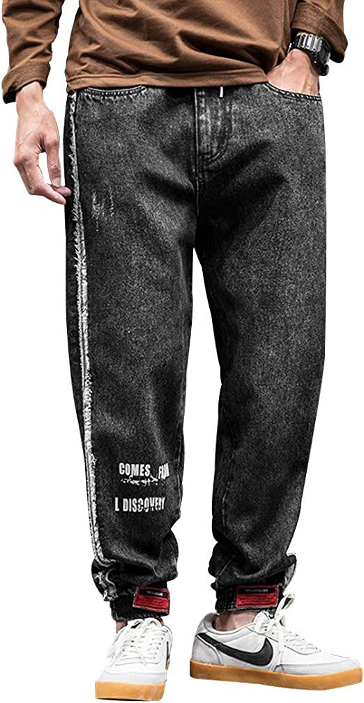 ジーンズ メンズ デニム ワイド イージーパンツ ゆったり ジーパン ワイドパンツ シンプル カジュアル ポケット付き ロング丈 ハロンパンツ オールシーズン 大きいサイズ M~3XL
