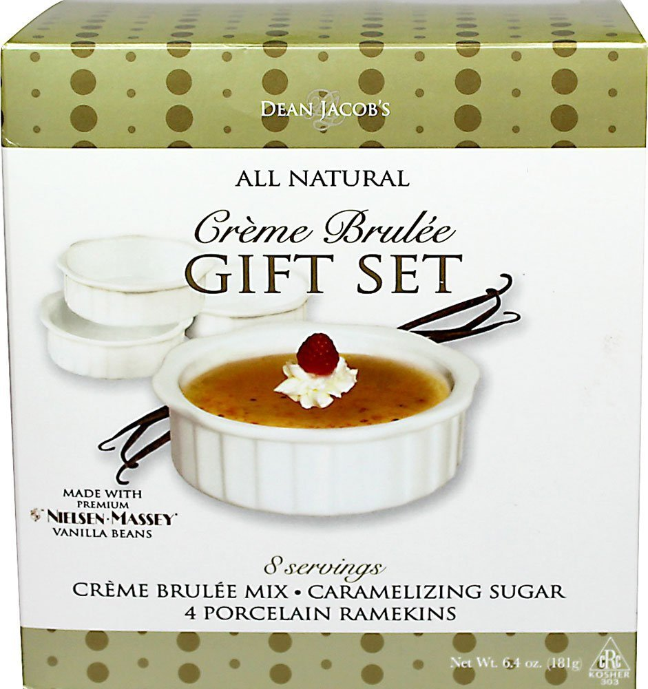 Dean Jacob's All Natural Crème Brulée Gift Set, 6.4 Ounce
