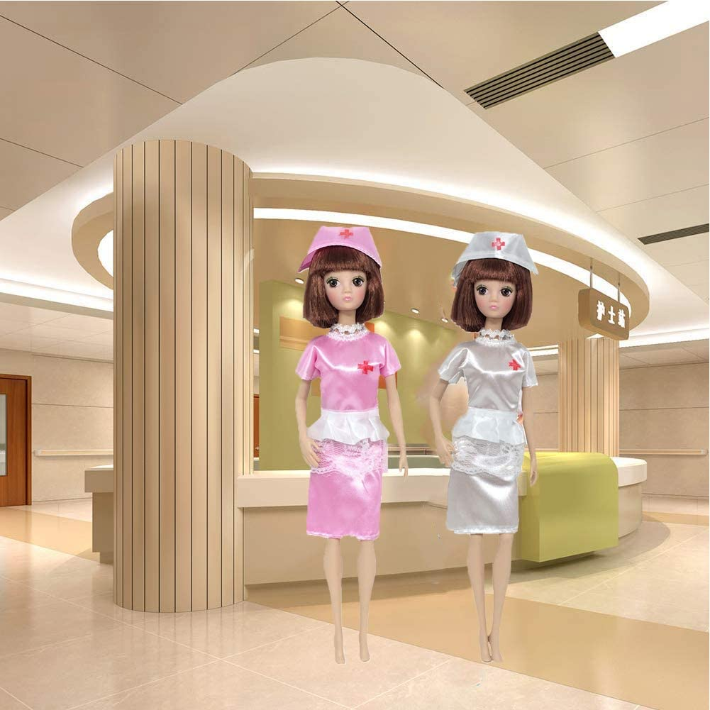 Dolls Clothes,Doll Nurse Doctor Clothes Dolls Career Apparel Clothes Outfits Fashion Accessories for 11.42 inch Dolls Toys 4 Set