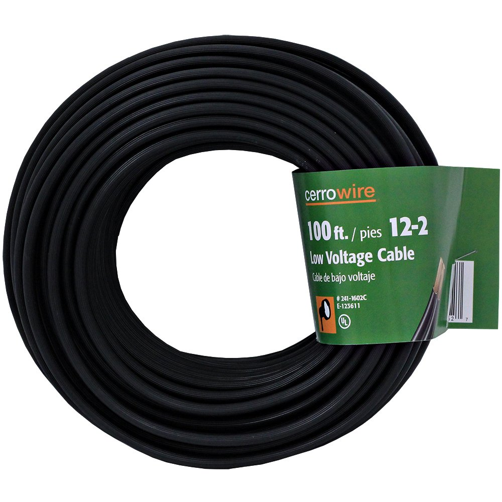 Cerrowire 241-1602C 100-Feet 12/2 Low Voltage Underground Landscape Lighting Cable