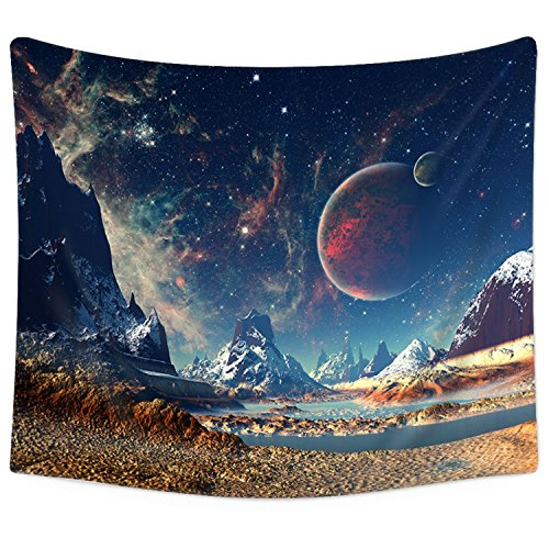 Sunm Boutique Tapestry Wall Hanging Wall Tapestry Galaxy Tapestry Planet Tapestry Psychedelic Tapestry Vintage Tapestry Home Decor(59.1x82.7, Galaxy#2)