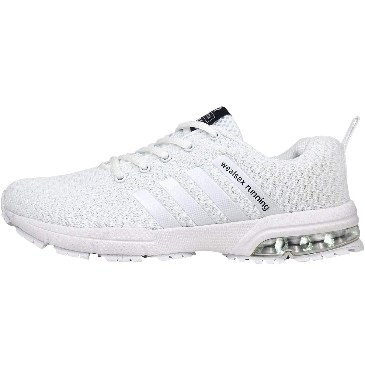 pretty nice ea24e d0a87 wealsex Chaussures Sports Running Course Fitness Gym Athlétique Baskets  Sneakers Air Chaussures Amorti Homme 39-46  Amazon.fr  Chaussures et Sacs