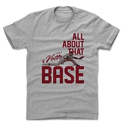 400c7a9a 500 LEVEL Joey Votto Cotton Shirt XXX-Large Heather Gray - Cincinnati  Baseball Men's Apparel
