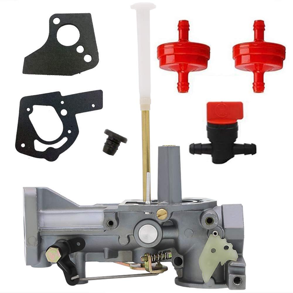 HOOAI 498298 Carburetor for Briggs & Stratton 498298 692784 495951 492611 490533 495426 Carb Gasket Kit by HOOAI