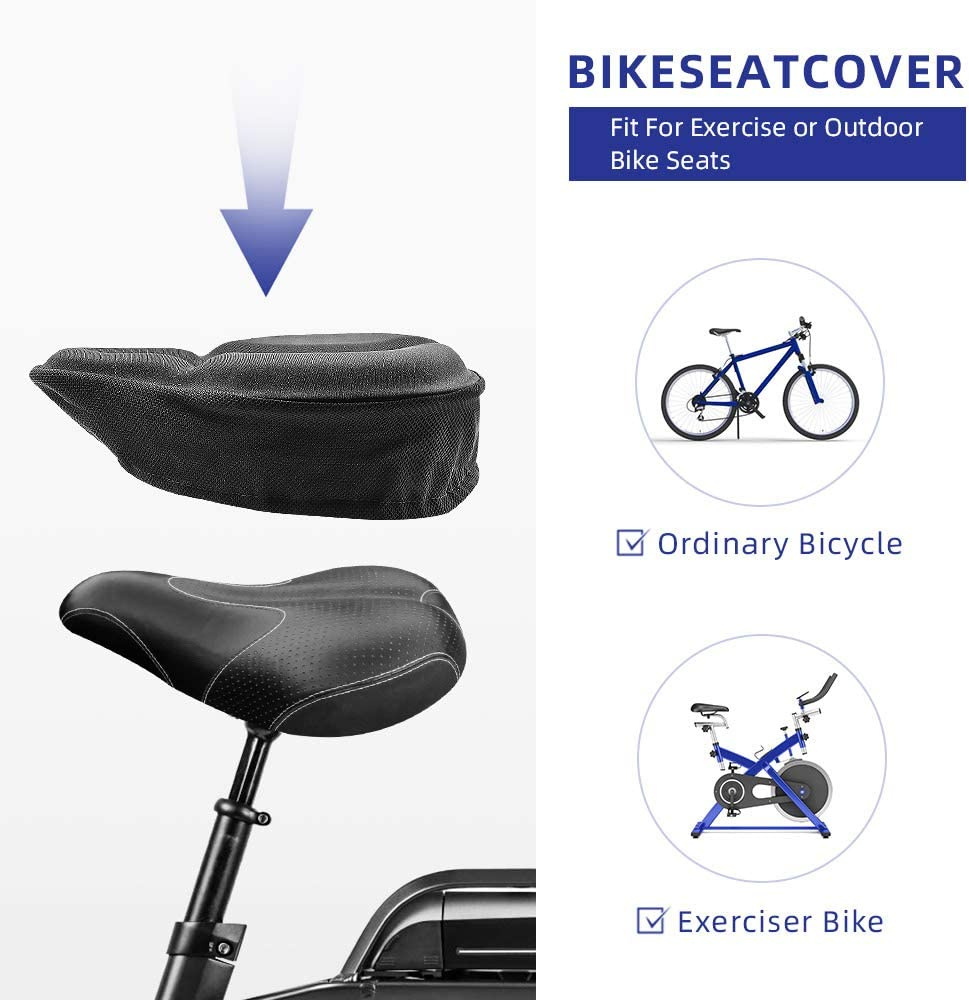 Bicycle Seat Cover Waterproof Saddle Bicycle Rain Proof Dustproof Gift E8Z8