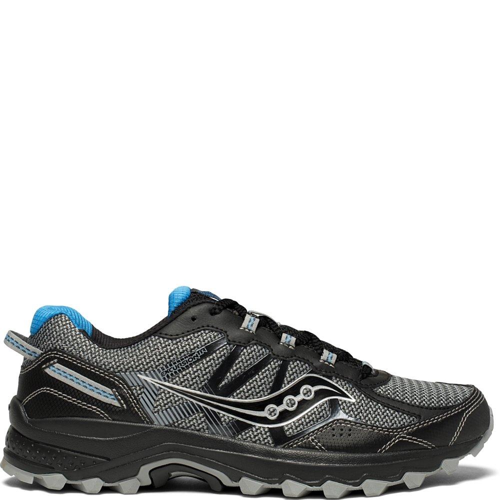 Saucony Men's Excursion TR11 Running Shoe, Black/Blue, 7.5 Medium US