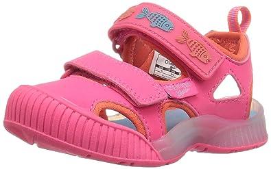 OshKosh B'Gosh Rapido Girl's and Boy's Bumptoe Sandal, Pink, 7 M US