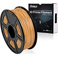 3D Printer Filament PLA+, 1.75mm PLA plus Filament, 3D Printing Filament Low Odor, Dimensional Accuracy +/- 0.02 mm, 2.2 LBS (1KG) Spool,Lightgold