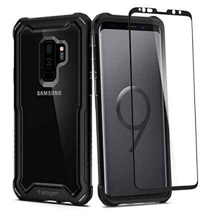 83b2b2e58951 Galaxy S9 Plus Case Spigen Hybrid 360-360 Full Body Coverage Protection  with Tempered Glass