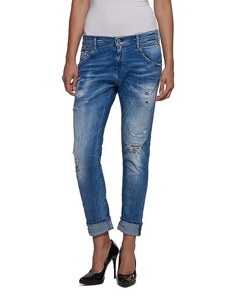 9 Replay Boyfriend New blue Blu W29 Denice Jeans Donna Denim Pocket ZtZ64zwqr